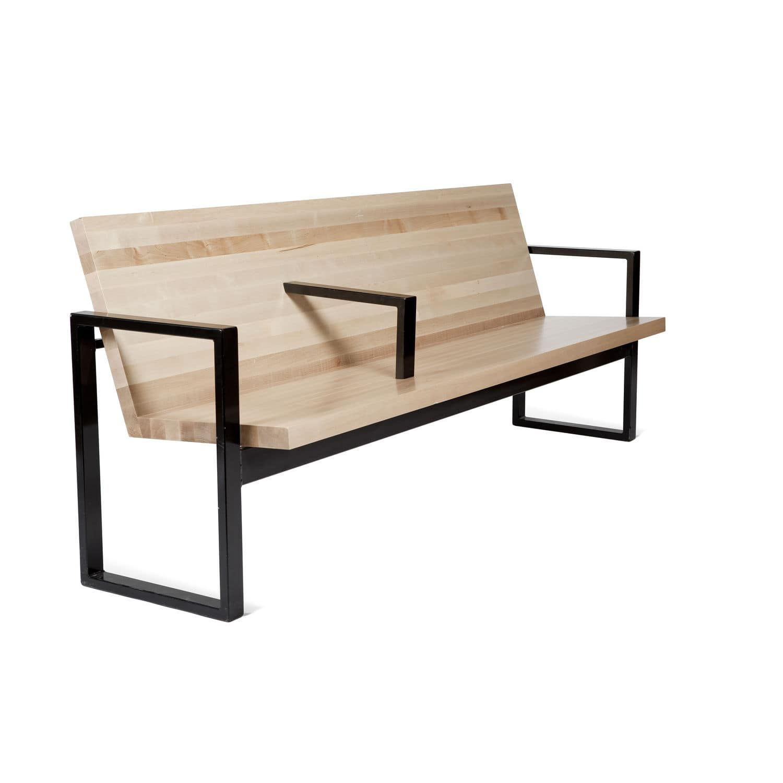 Garden bench contemporary wooden metal by efs balzar beskow
