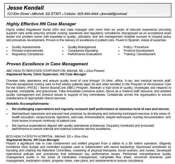 RN Case Manager Resume - http\/\/getresumetemplateinfo\/3464\/rn - case management job description