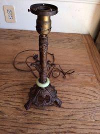 Vintage Antique Cast Iron Table Lamp Art Deco Nouveau ...