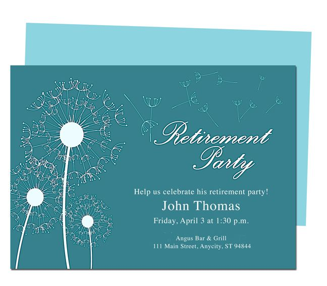 Winds Retirement Party Invitation Templates DIY printable template - party invitation templates word