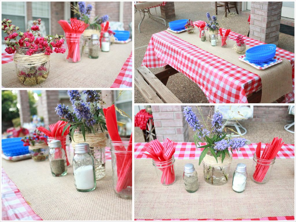 Picnic Themed Decorations Country Fair Birthday Party Picnic Table Decorations