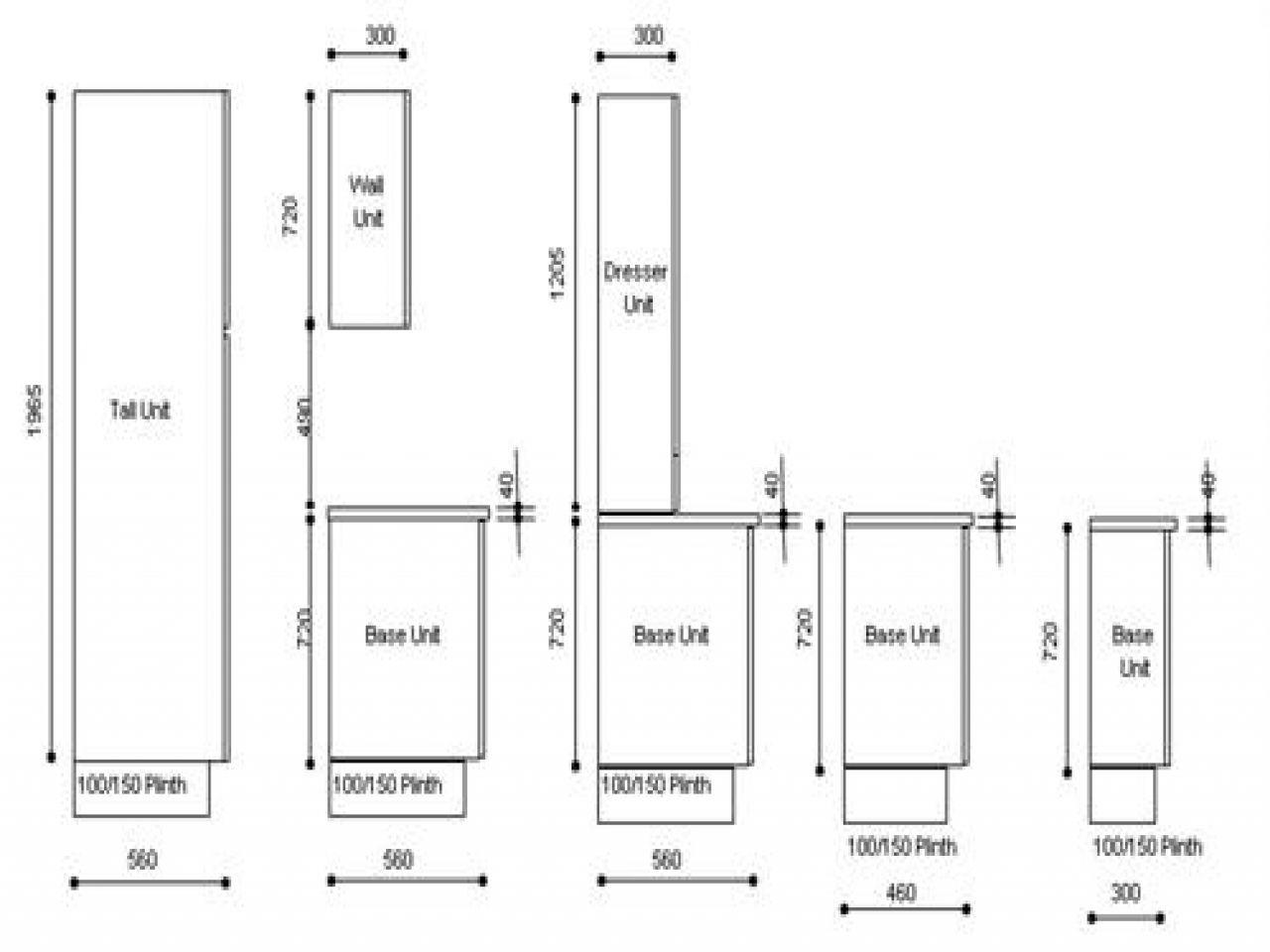 Dimensiones De Muebles De Cocina | Medidas Estandar Muebles Cocina