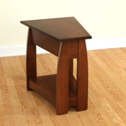 Sonoma Solid Cherry Wood Wedge End Table Amish Furniture Solid
