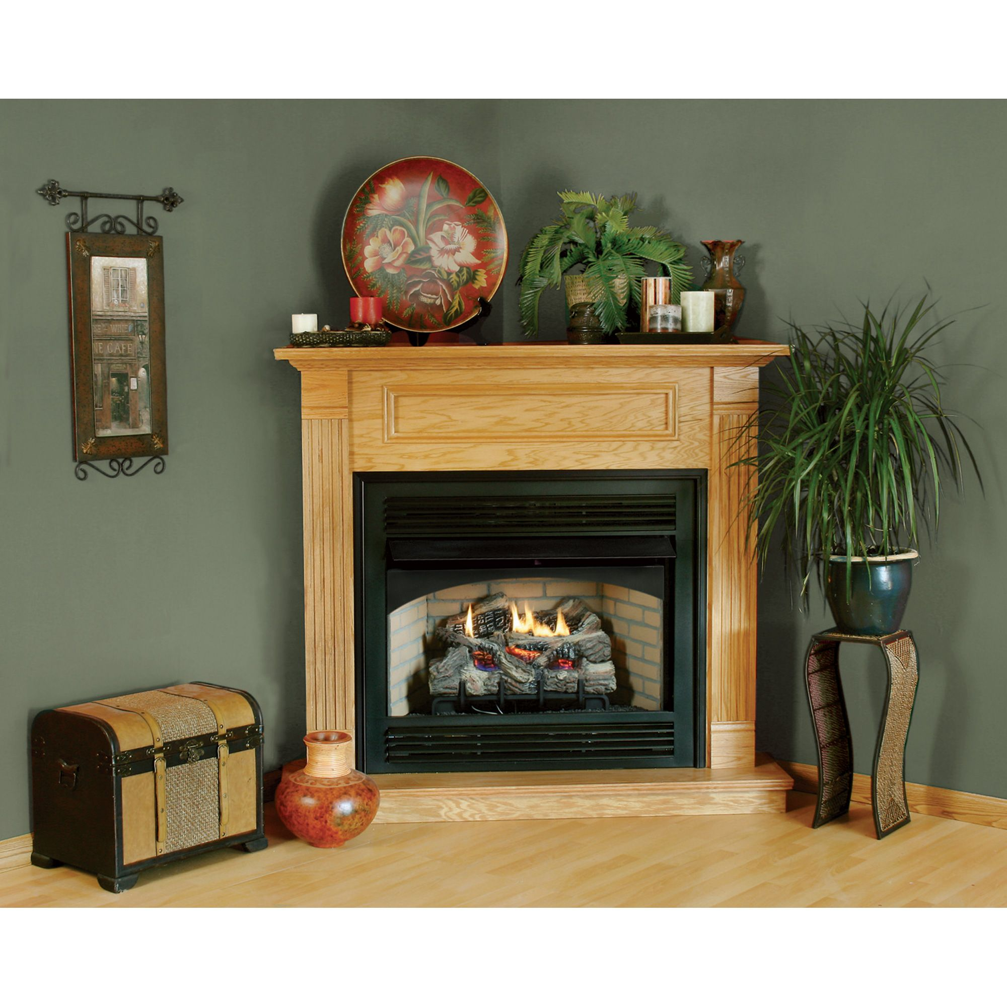How To Decorate Fireplace Wall How To Decorate A Corner Fireplace Mantel Google Search
