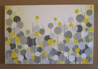 Mustard Yellow and Grey Wall Art, Textured Painting ...