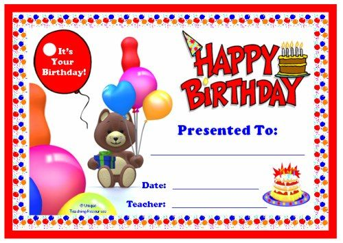 ... Awards For All Subjects Awards And Certificates That All Teachers    Kids Certificate Templates ...  Happy Birthday Certificate Templates