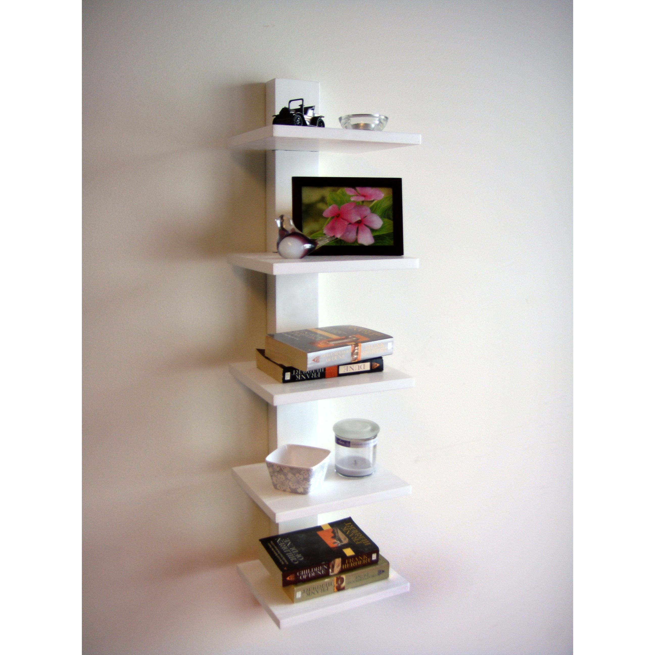 Wall Book Racks Spine Wall White Book Shelves By Proman Wall Mounted