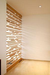 Light + interior architecture: unique wood window panels ...