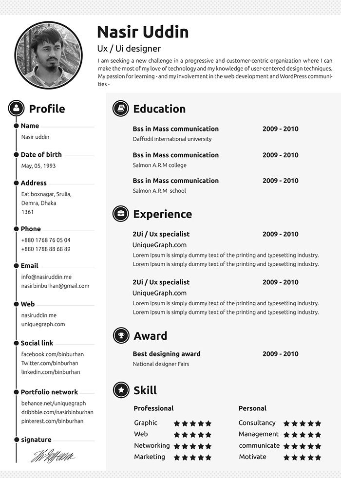 30 Free \ Beautiful Resume Templates To Download Template, Cv - i need a resume template