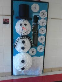 Snow Man Theme For Board Decoration