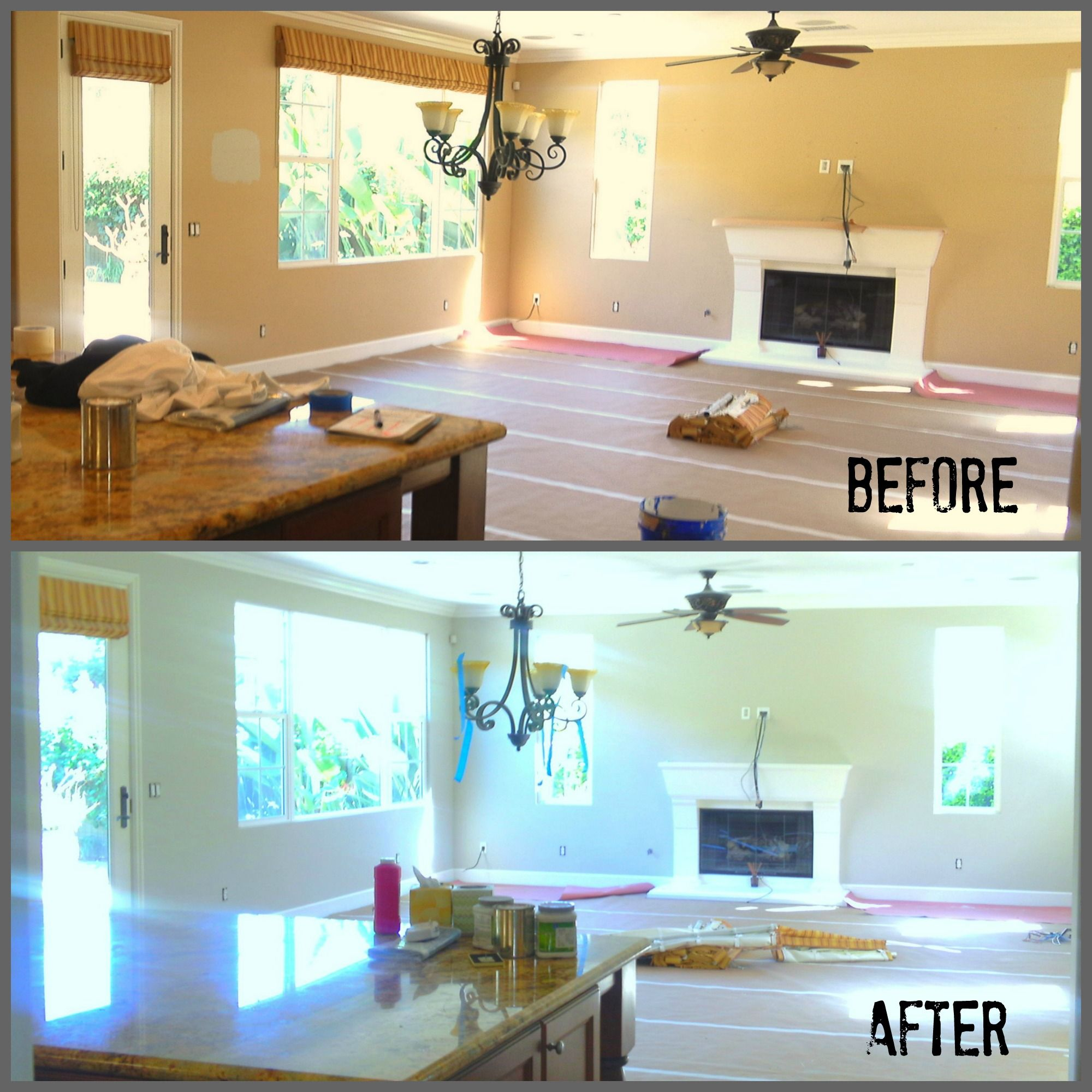 Amazing Grey Paint La Costa Interior Repaint By Maverick Painting San Diego