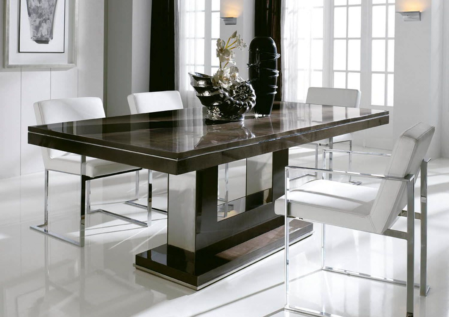 Modern Table Chairs Interesting Modern Dining Table Dining Room Pinterest