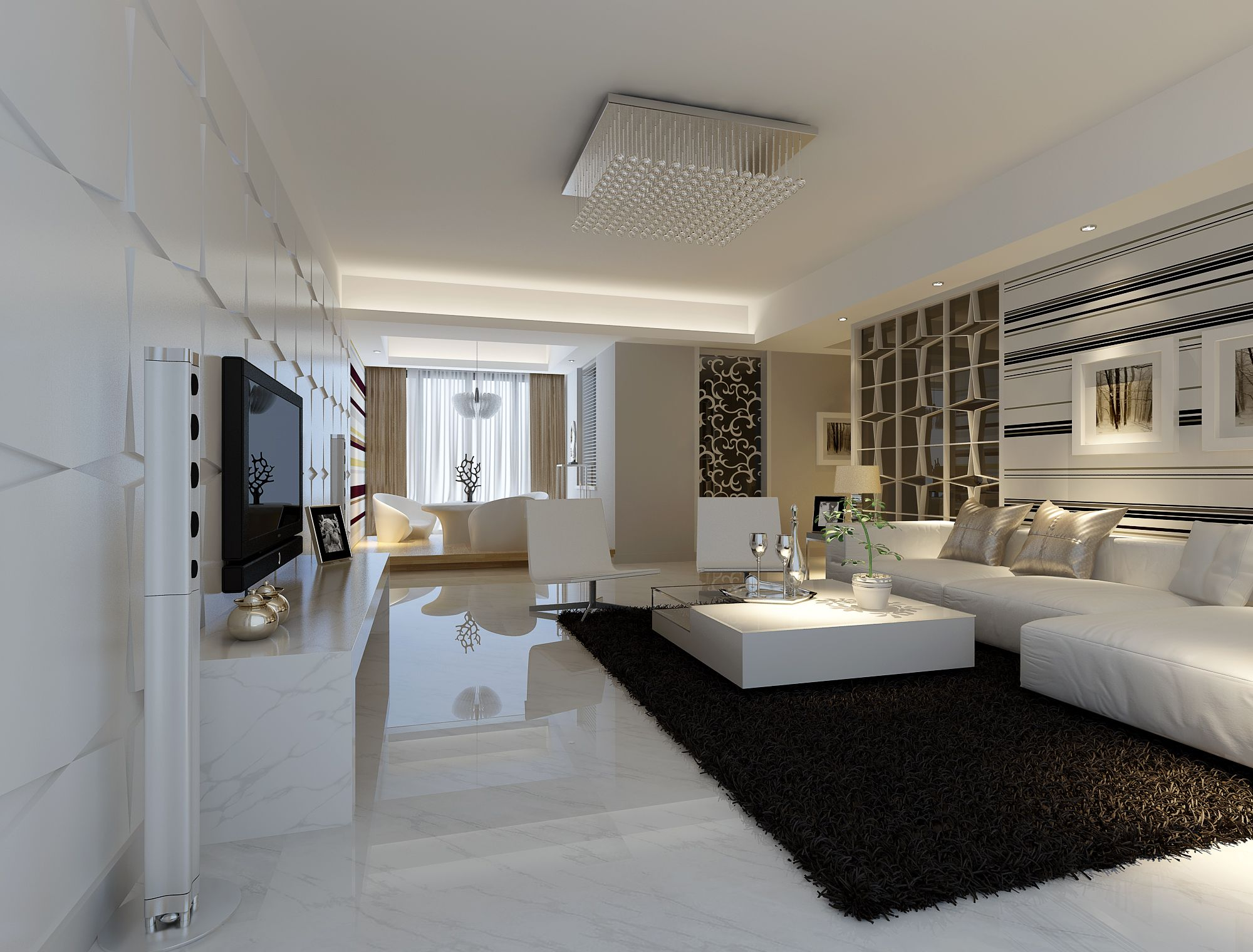 Im Wohnzimmer It S All About Interior Pinterest Living Room Modern White Marble Flooring For Living Room With Black