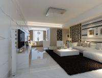 Modern white marble flooring for living room with black ...