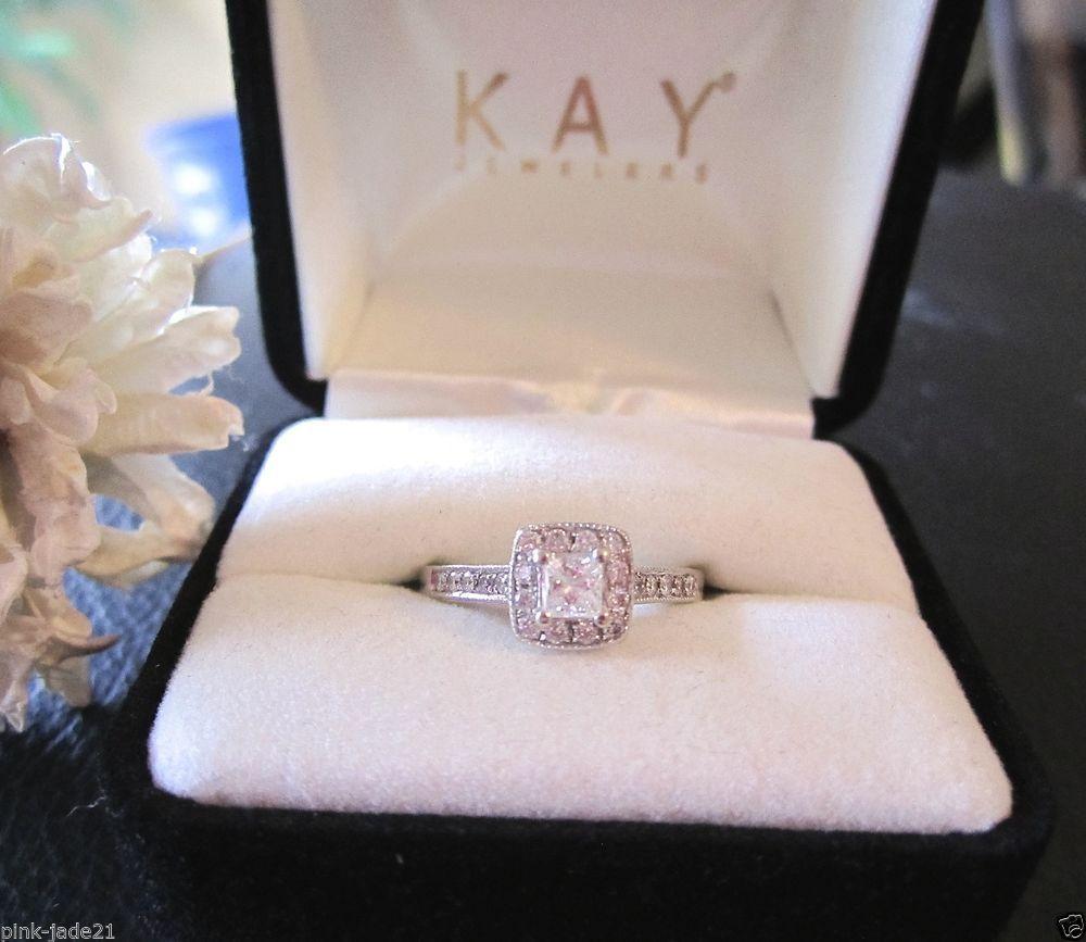 kays jewelry wedding rings KAY JEWELERS Engagement Wedding Halo Princess Cut Diamond Ring 14KT White Gold
