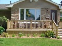 uncovered front porch/deck | House Remodel | Pinterest ...