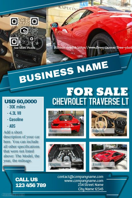 Auto dealer flyer template http\/\/wwwpostermywall\/indexphp - car for sale flyer template