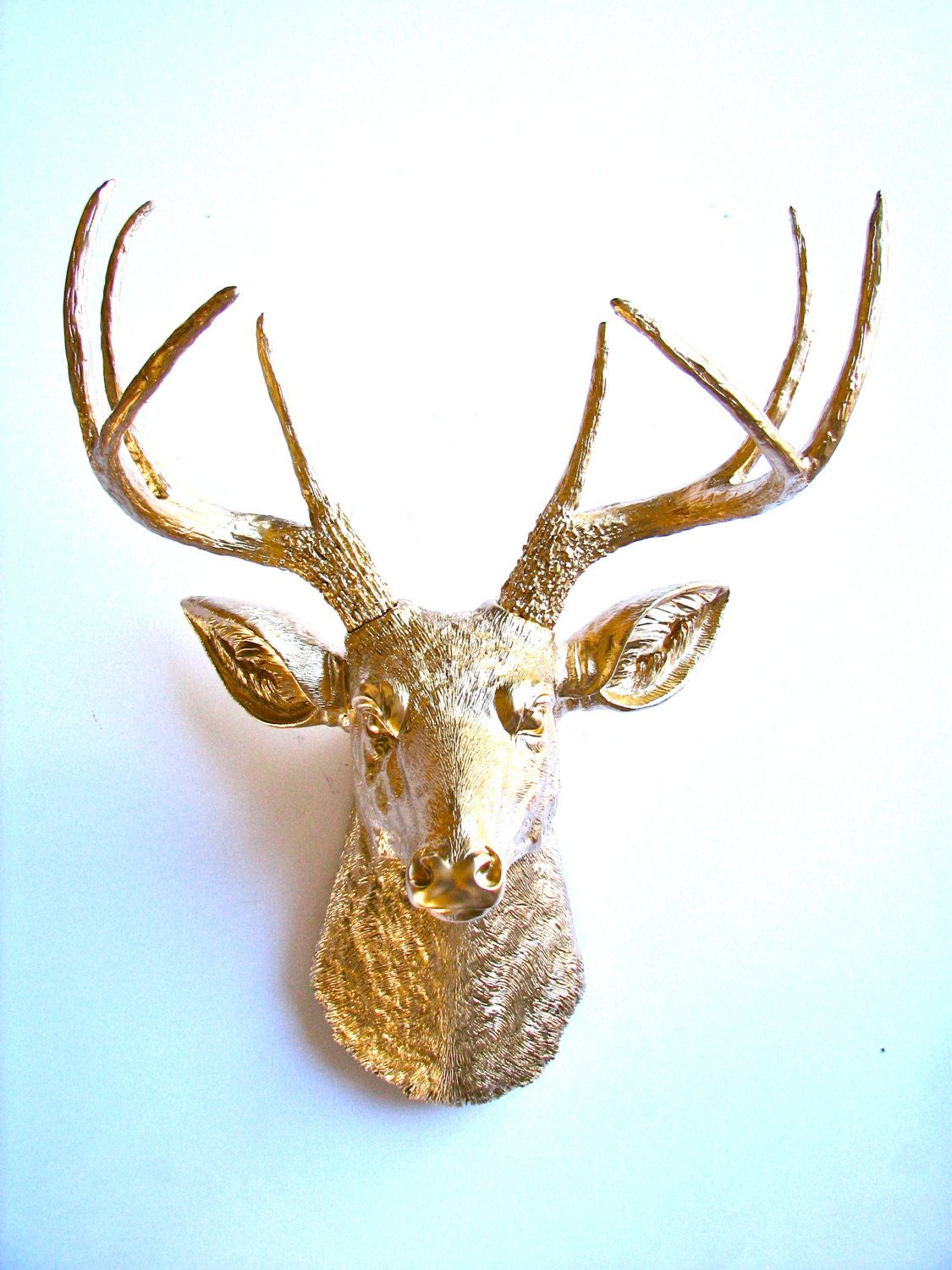 Faux Stag Head Gold Deer Head Faux Taxidermie Wall Hanging Wall Mount