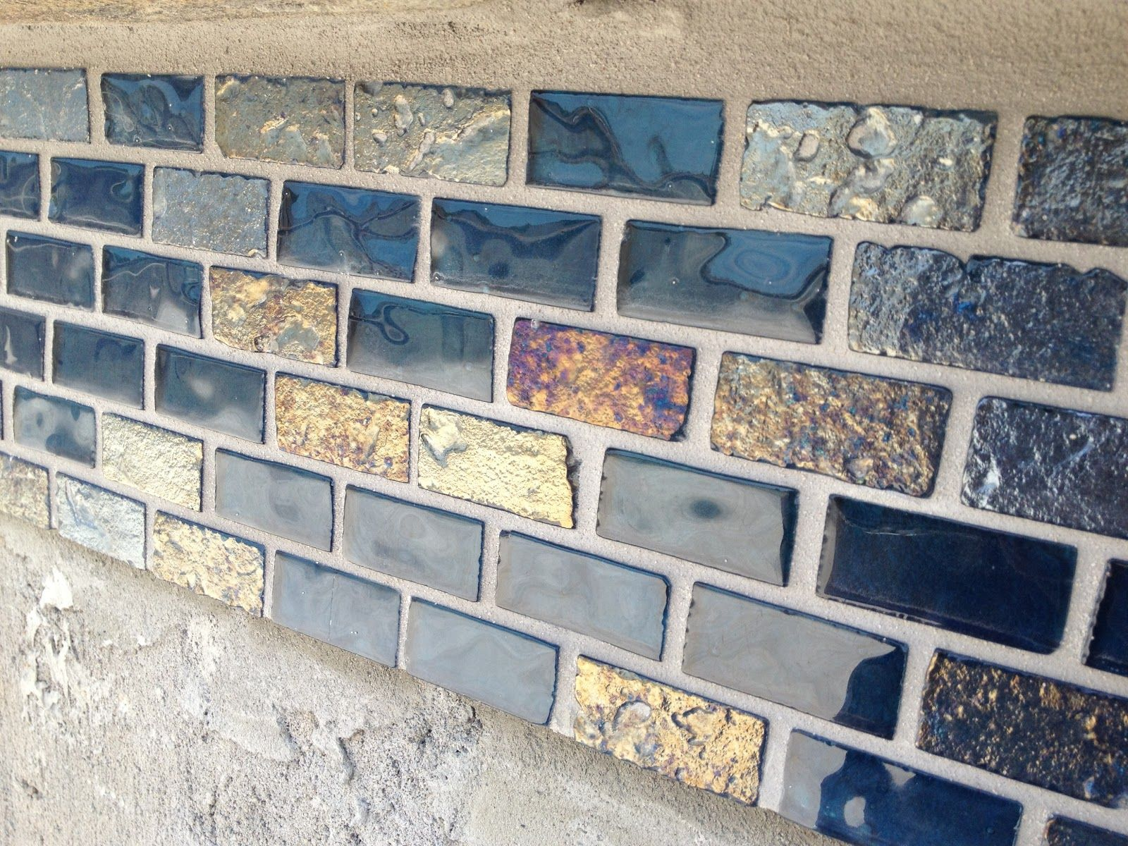 Grout Mosaic Tile Day 64 Glass Tile Part 2 Grout Grouting Glass Tile