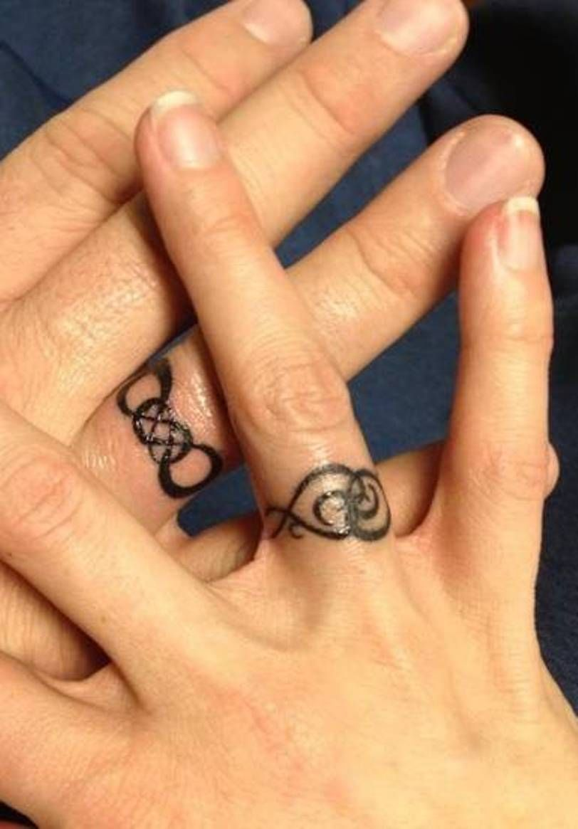 infinity wedding rings Infinity Tattoo Ideas Infinity Wedding Ring Tattoos Designs Beautiful Wedding Ring Tattoos