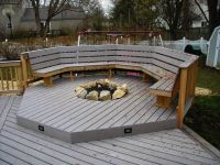 recessed gas fireplaces for deck | Recessed Firepit with ...