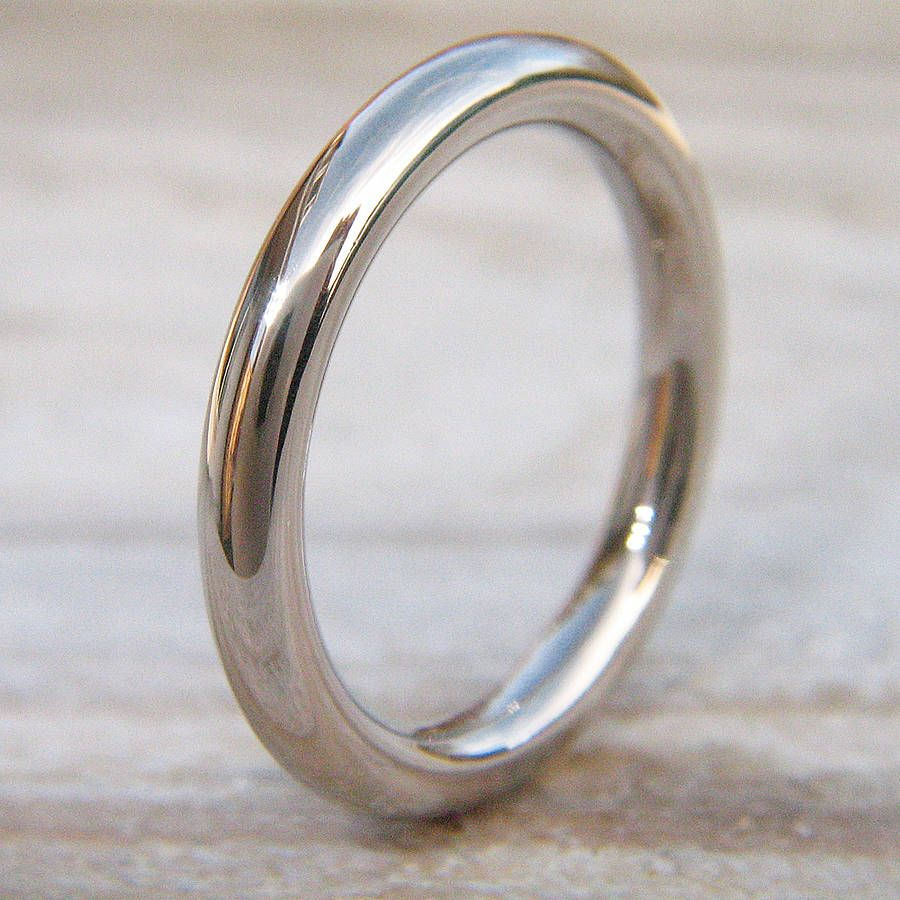 18k gold wedding bands 3mm Halo Wedding Ring In 18ct Gold Or Platinum