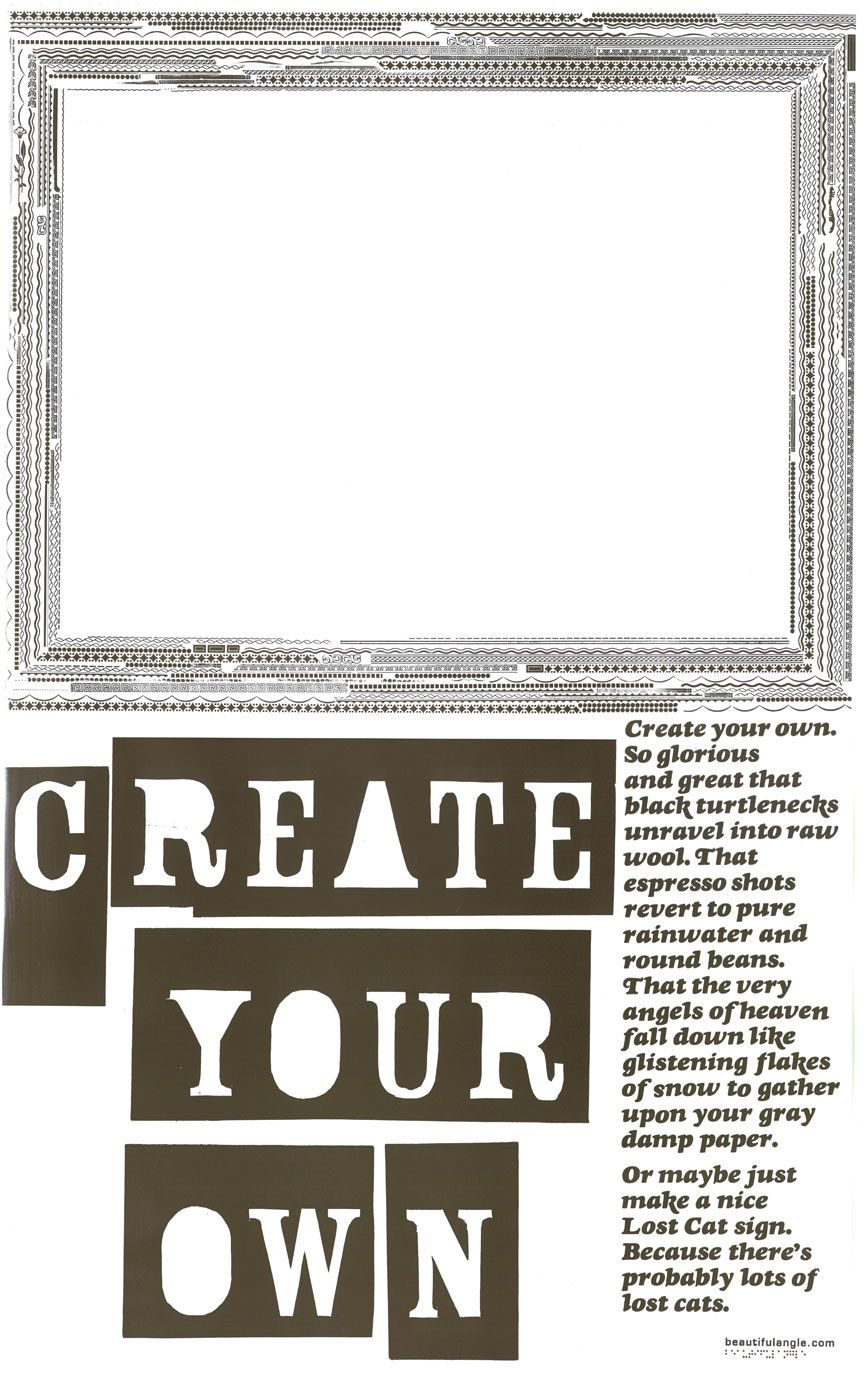 Image of beautiful angle november 2007 letterpress poster create your own