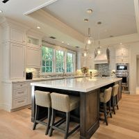 Beautiful kitchen with large island   House & Home ...