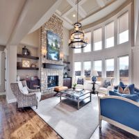 Great room: floor to ceiling stone fireplace, large ...