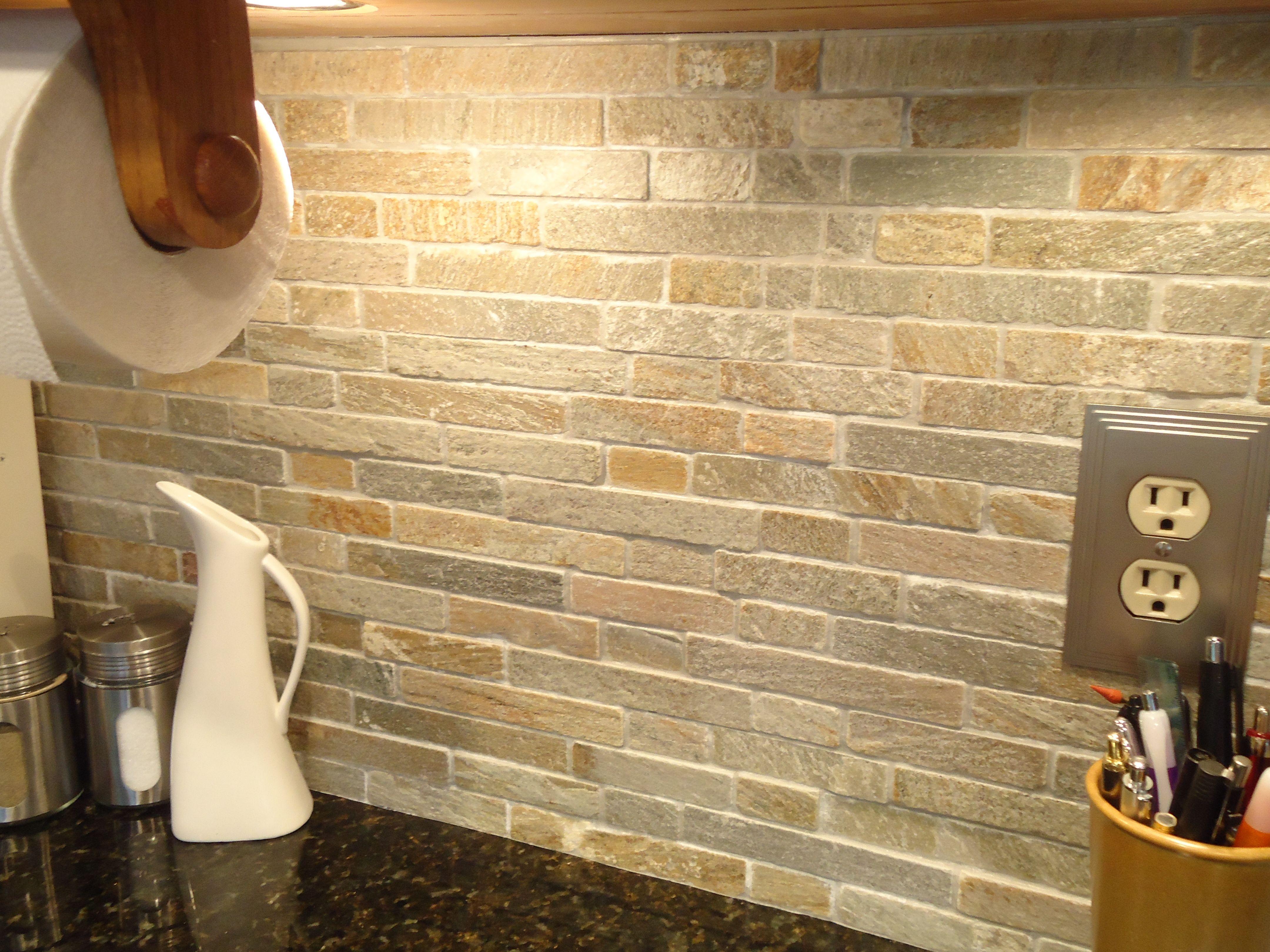 stacked stone backsplash stone backsplash kitchen Stone Backsplash Tile Kitchen Famous Stacked Stone Kitchen