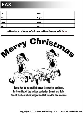 This funny Christmas fax cover sheet has a cartoon of a horrible - sample cute fax cover sheet