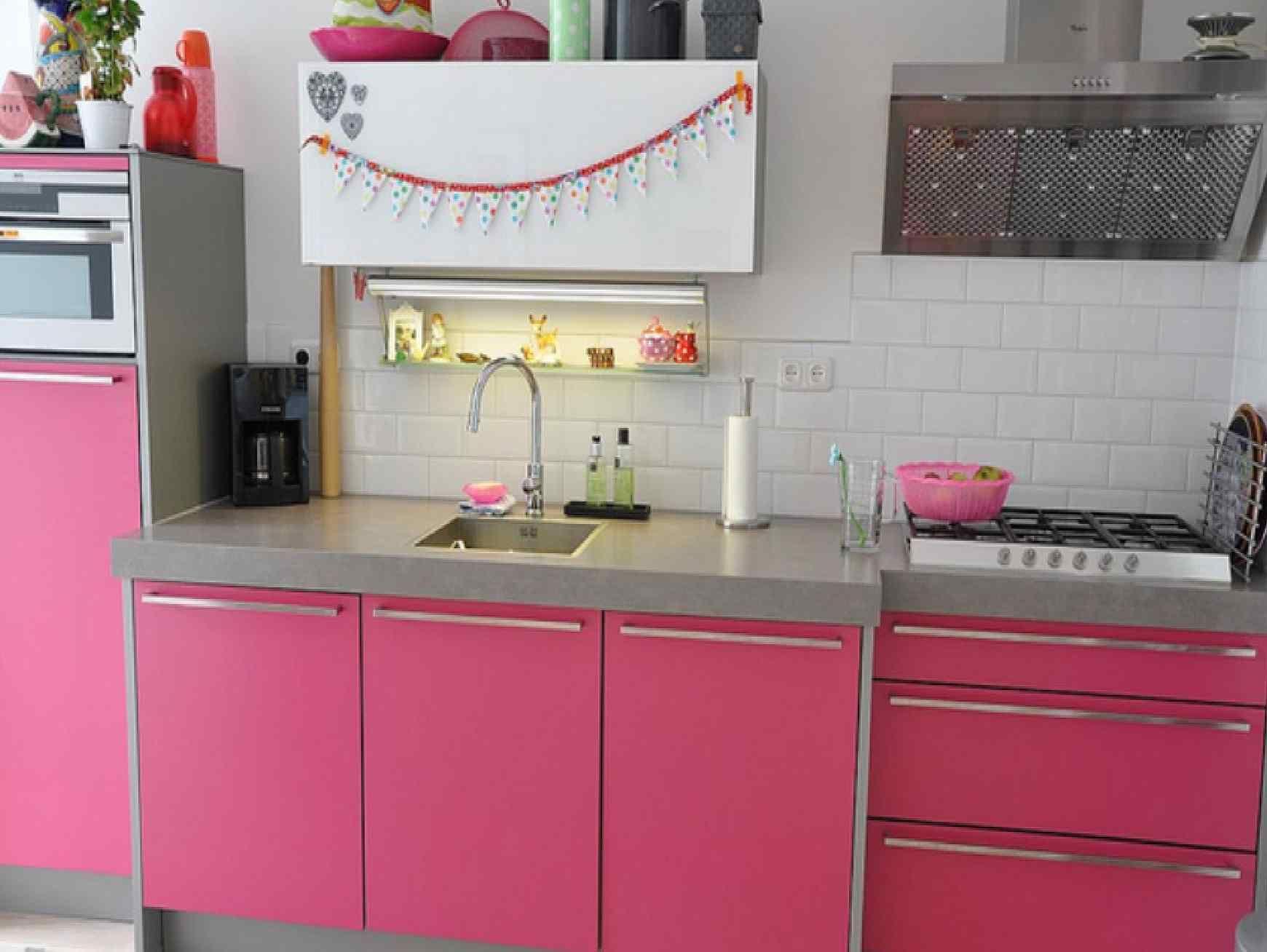 kitchen interior design Pink kitchen fresh ideas interior design