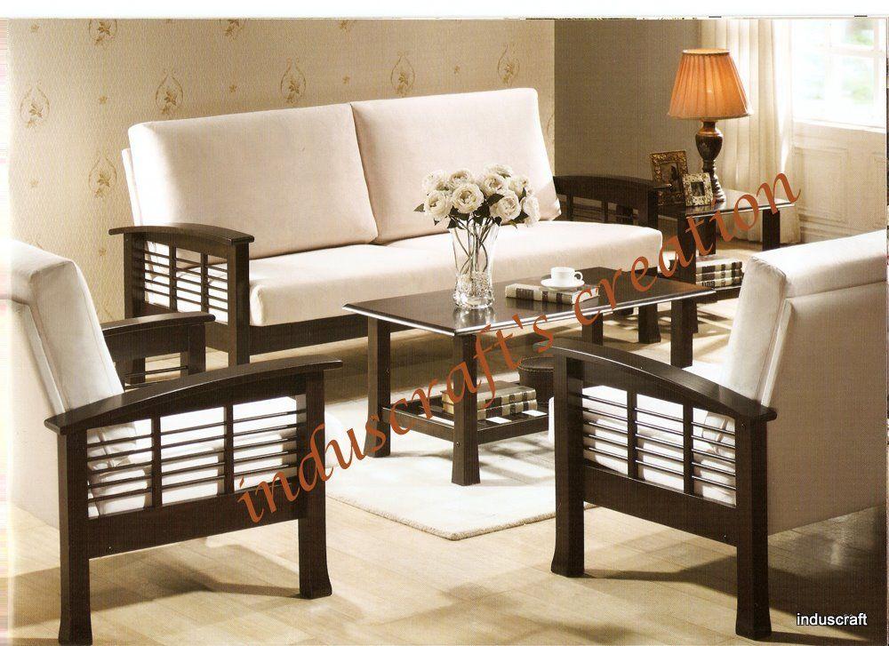 Wooden sofa set u2026 Pinteresu2026 - types of living room chairs