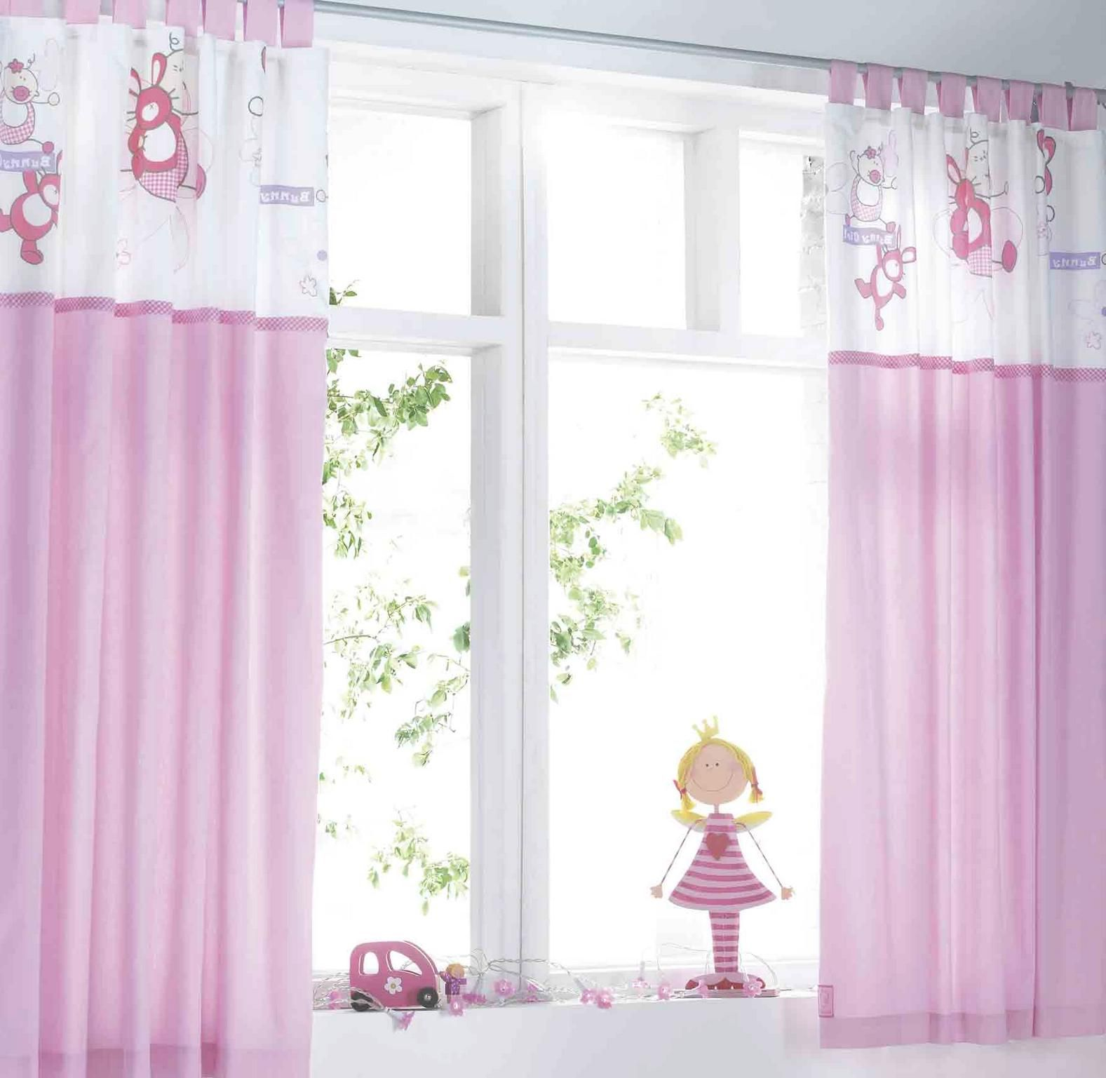 Kids room bee motive kids room curtains for girl with white and much purple underneath