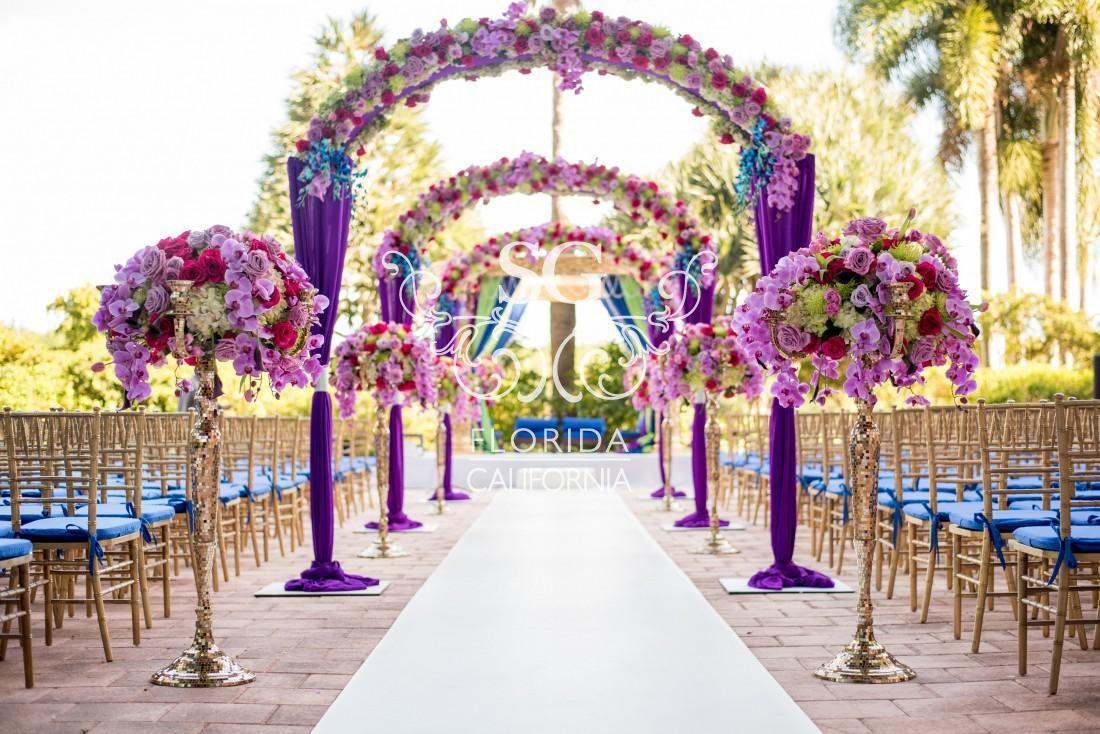 wedding aisle decorations Suhaag Garden wedding decorators wedding decor Florida California Atlanta wedding vendors Indian