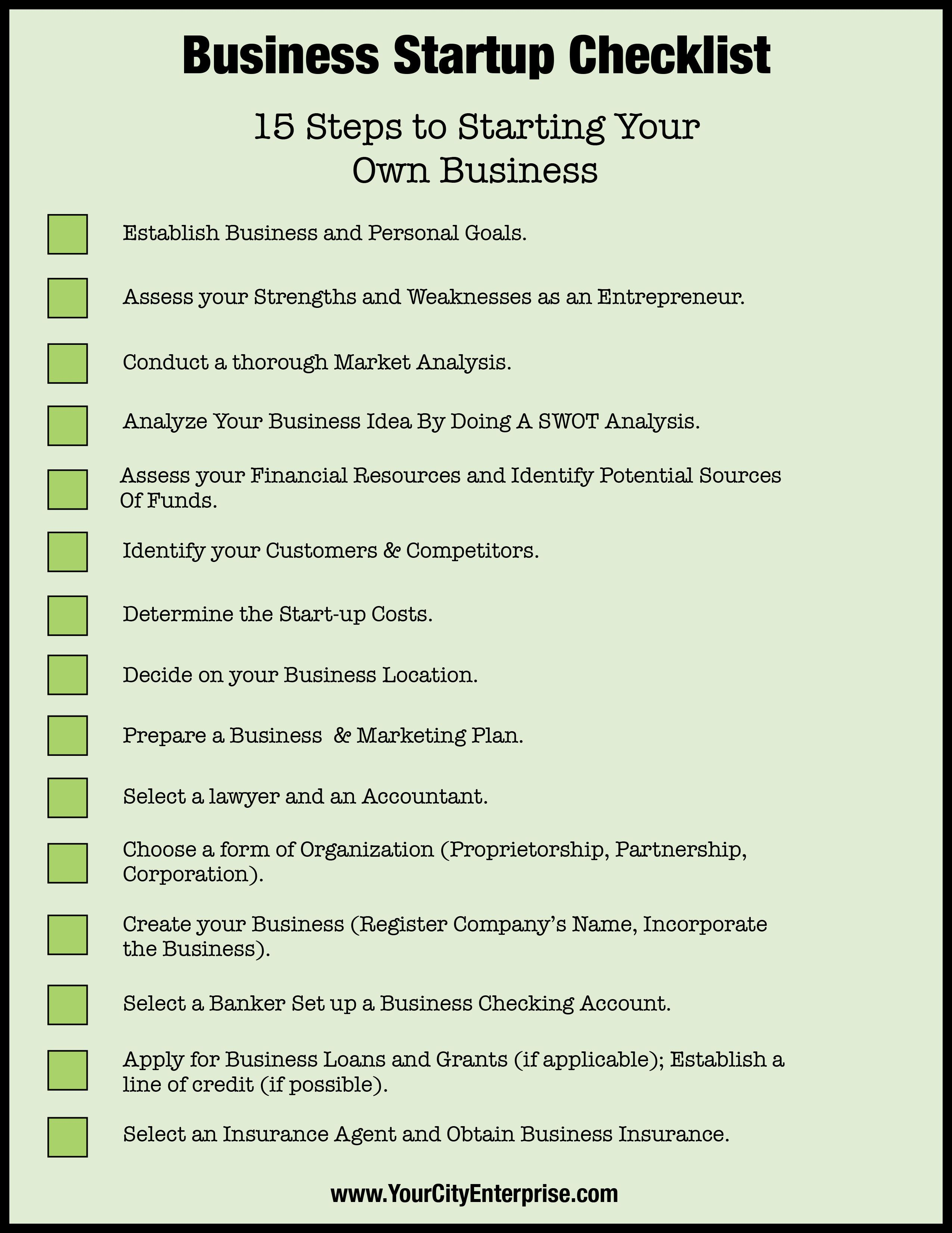 Start A Startup Company Business Startup Checklist Ready To Take The Leap Into