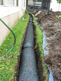 NDS EZ Drain Pre-constructed French Drain Installation ...