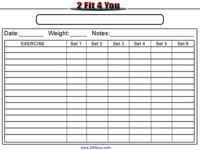 Blank Workout Sheet Free Workout Chart Template 25+ Best Workout - blank sign in sheet