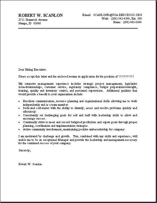 proper cover letter format