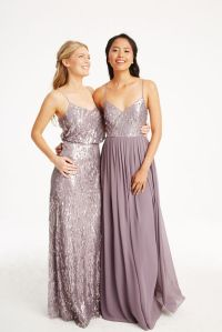 Donna Morgan Collection sequin gowns // Mix and match