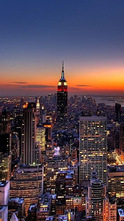 1080x1920 Wallpaper new york, night, skyscrapers, top view | iPhone 5 wallpapers | Pinterest ...