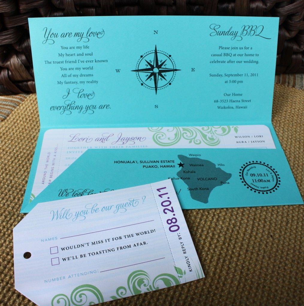 wedding invitations beach theme Travel Theme Wedding Ideas