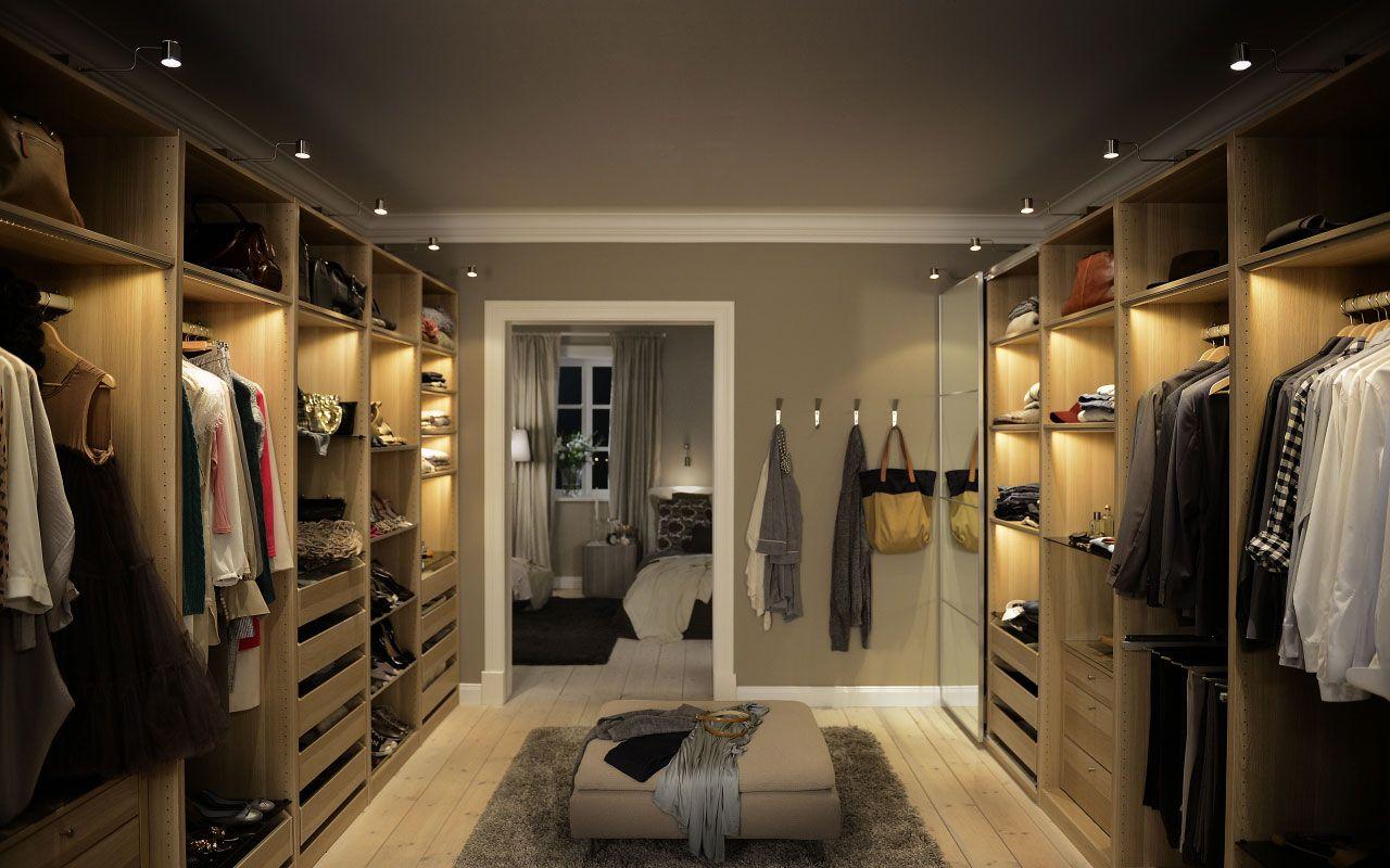 Walkin Closet Met Pax Garderobesysteem Van Ikea Home