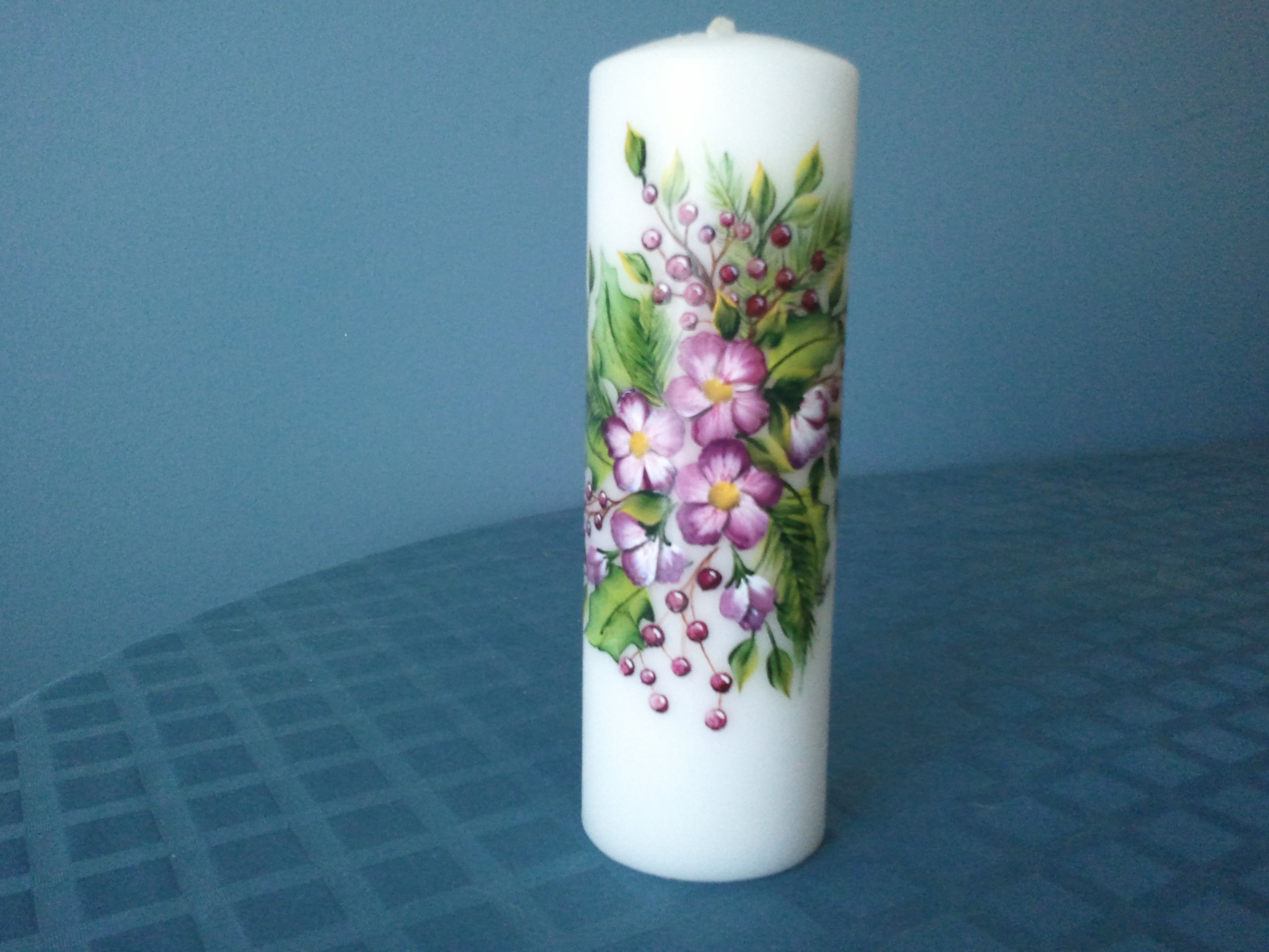 Decorative Candles For Sale Hand Painted Holiday Themed Pillar Candle On Sale In My
