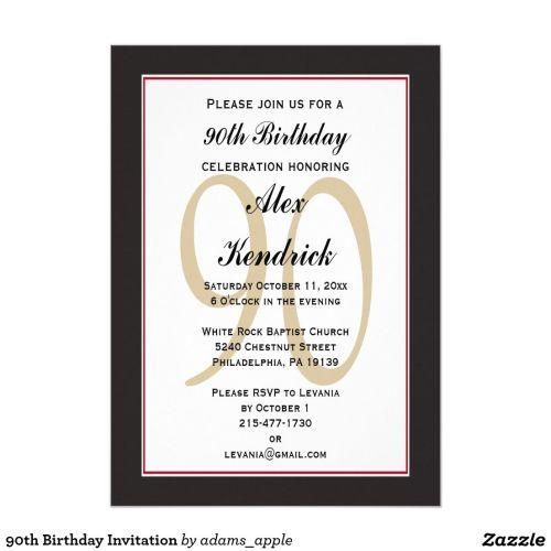 Medium Of 90th Birthday Invitations