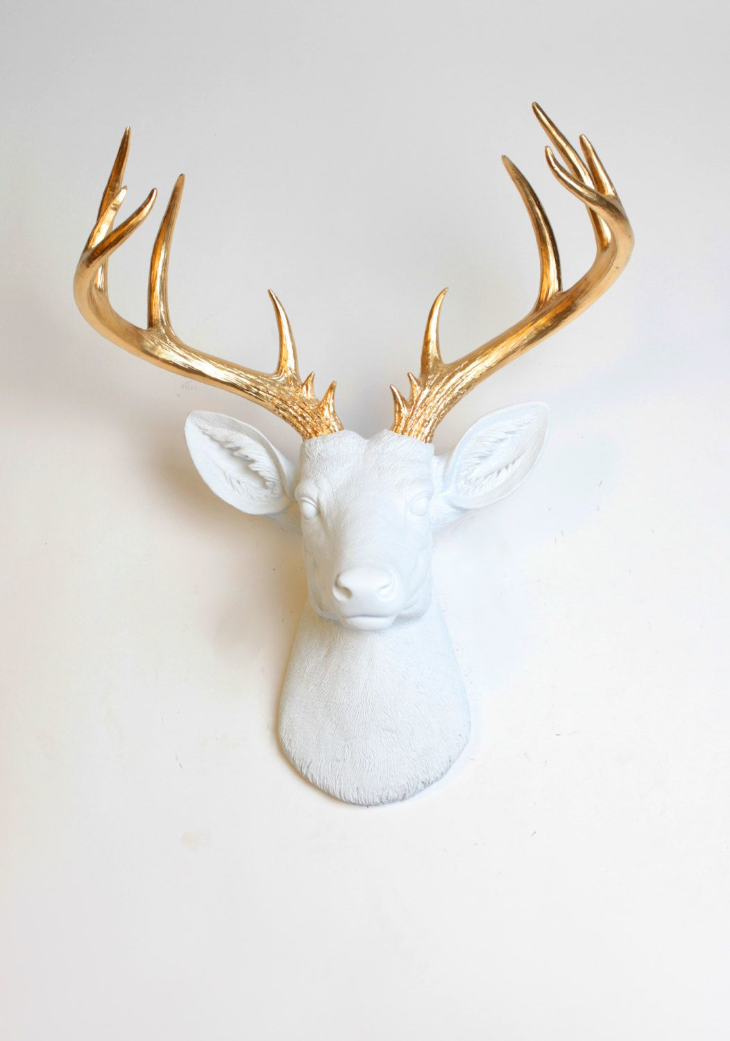 Fake Taxidermy Deer Head Faux Taxidermy Deer Head Wall Mount Décor The Xl Alfred