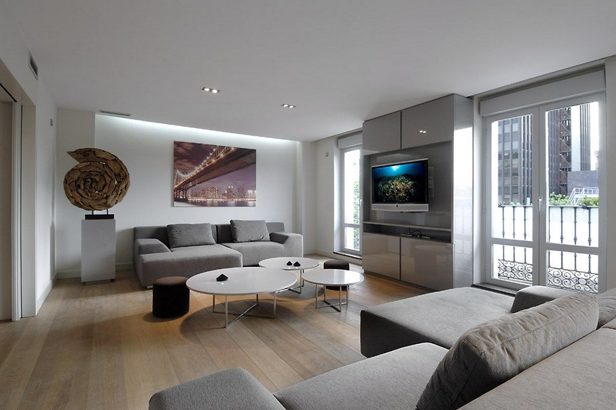 Modern Living Room Ideas Grey Contemporary Living Room In White And Grey Design Ideas 4