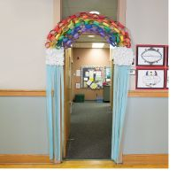 Rainbow Door Decoration Idea - OrientalTrading.com | Kids ...
