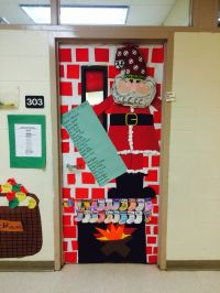 Santa and naughty or nice list door decor | Classroom ...