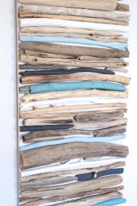 DIY Coastal Decor - Painted Driftwood Wall Art | Driftwood ...